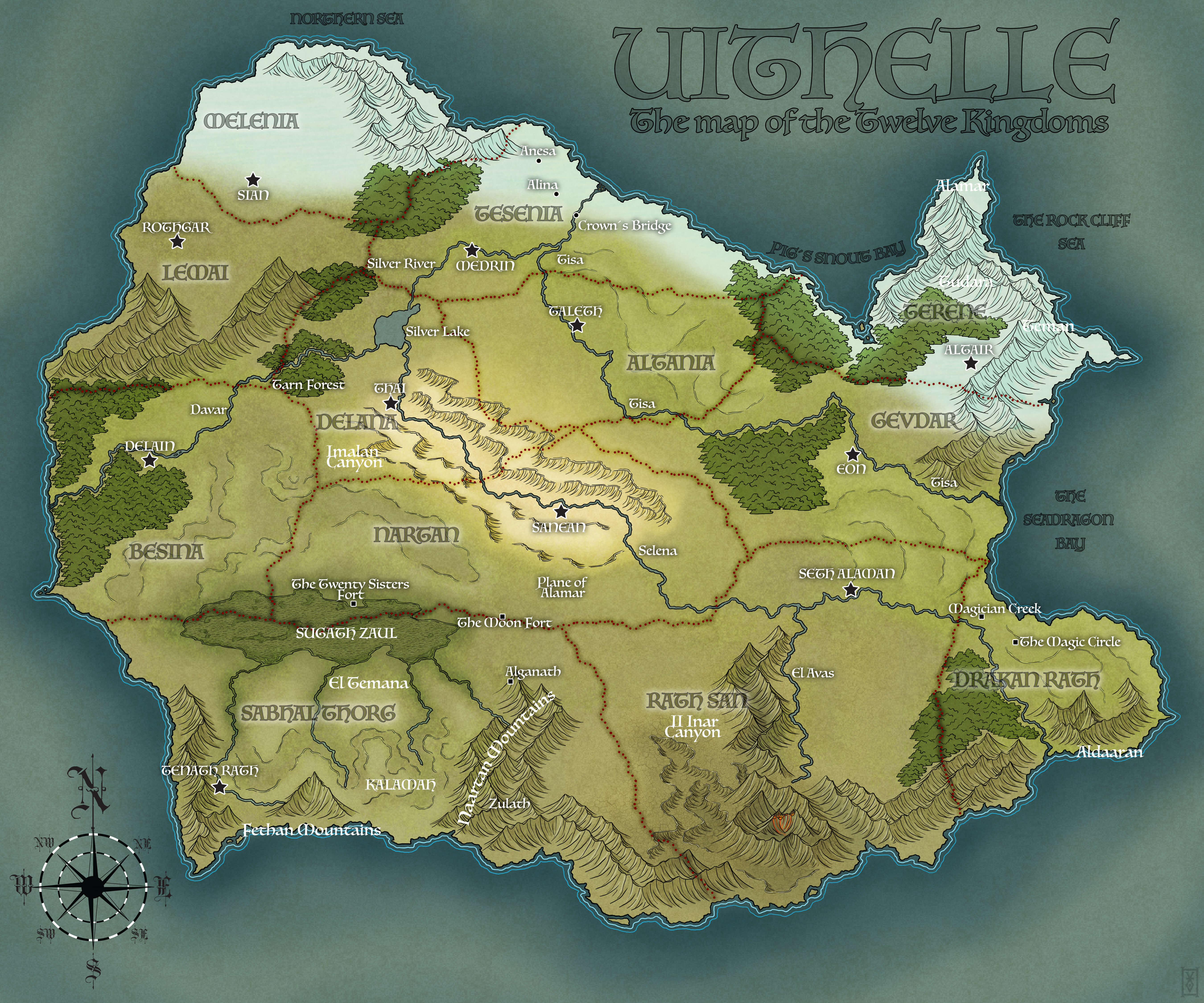 Eye Of The World Map Eye of the Snake: Map of the Twelve Kingdoms   Urban Klančnik, writer